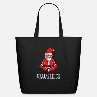 Christmas Yoga Christmas Funny Namasleigh Santa Meditate - Eco-Friendly Tote Bag