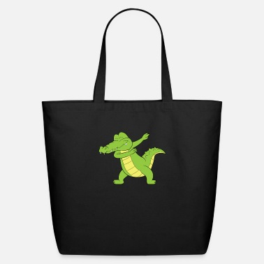 Lizards Reptile Dabbing Crocodile Aligator Gift - Eco-Friendly Tote Bag