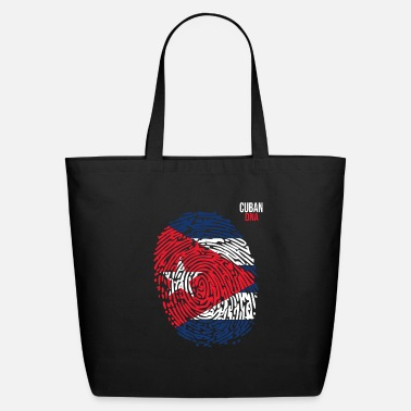 Cuban Roots Design Cuba Flag. Cuban DNA. Cool Cuban Flag. Cuban Roots - Eco-Friendly Tote Bag