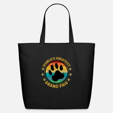 Puppy World's Greatest Grand Paw Grandpa Dog Lover - Eco-Friendly Tote Bag