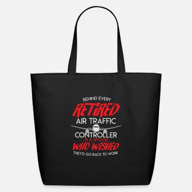 Aviation Air Traffic Retirement Air Controller Airplane - Eco-Friendly Tote Bag