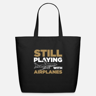 Playing Still playing airplanes - Eco-Friendly Tote Bag