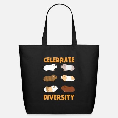 Celebrate Guinea Pig Graphic Celebrate Diversity Cute Pets - Eco-Friendly Tote Bag