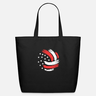Beach Volleyball Volleyball USA Flag - Eco-Friendly Tote Bag