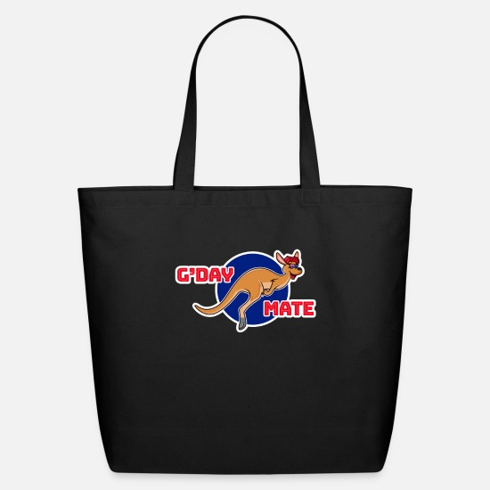 Under Bags & Backpacks - G'Day Mates Australien Cangaroo Comic Humor - Eco-Friendly Tote Bag black