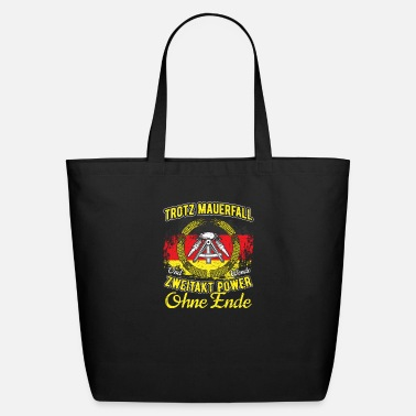 East Funny DDR Moped Two-Stroke Engine Gift Shirt - Eco-Friendly Tote Bag