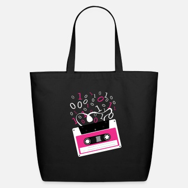 Rectangle Cassette tape Rectangle M Pattern Rectangle - Eco-Friendly Tote Bag