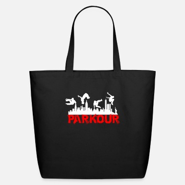 Stairs PARKOUR FREE RUNNING ACROBATIC GYMNASTICS & STUNTS - Eco-Friendly Tote Bag