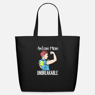 Childhood Autism Mom Unbreakable Autistic Puzzle Awareness - Eco-Friendly Tote Bag