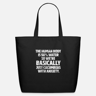 Finger ASL The Human Body Is 90% Water Vintage - Eco-Friendly Tote Bag