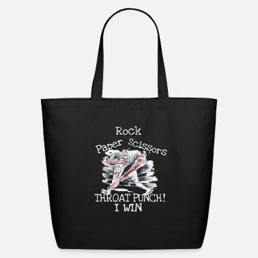 Champ Rock Paper Scissors Throat Punch I Win - Eco-Friendly Tote Bag