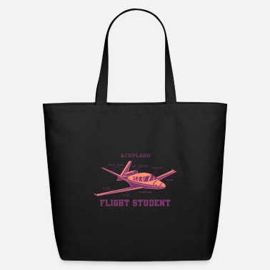 Flight AIRPLANE DETAILS Flight Student Gift For Pilot - Eco-Friendly Tote Bag