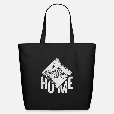 Snowboard Home Ski Mountain Skiing Winter Sports Gift - Eco-Friendly Tote Bag