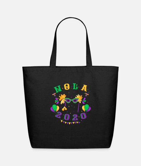 Festival Bags & Backpacks - Nola 2020 Mardi Gras Street Party Carnival Gift - Eco-Friendly Tote Bag black
