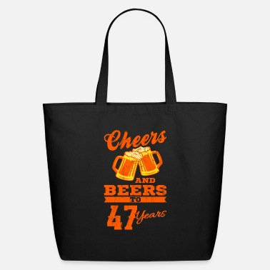 47th Birthday 47th Birthday Men CHEERS AND BEERS Gift Party - Eco-Friendly Tote Bag