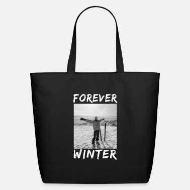 Ski Resort Forever Winter Skiing Winter Sports Gift - Eco-Friendly Tote Bag