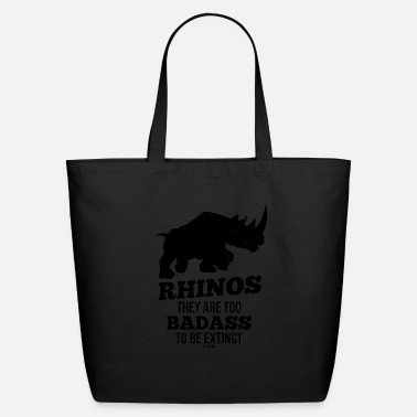 Pachyderm extinct rhinoceros threatened Ivory - Eco-Friendly Tote Bag