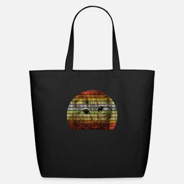 Summer Retro Cat - Eco-Friendly Tote Bag
