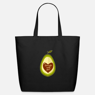 Fruit Avocado With Love - Avocado - Eco-Friendly Tote Bag