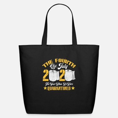 July Independence Day 4th of July Funny Quarantine - Eco-Friendly Tote Bag
