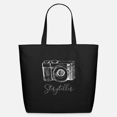 Storytelling Graphic Storyteller Camera Lens Photography Photographer - Eco-Friendly Tote Bag