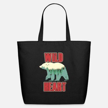 Fox Wild Heart and a wild Bear - Eco-Friendly Tote Bag