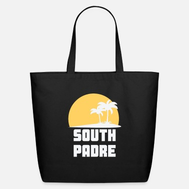 South Padre Island Texas South Padre Island Texas Sunset Palm Trees Beach - Eco-Friendly Tote Bag