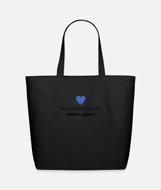 Husband Bags & Backpacks - gift single taken relationship with motor sports - Eco-Friendly Tote Bag black