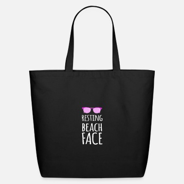 Face Resting Beach Face - Eco-Friendly Tote Bag