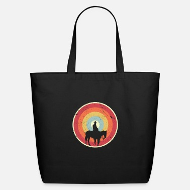 Country Cowboy/ Design. Retro Horse Graphic, Wild West Tee - Eco-Friendly Tote Bag