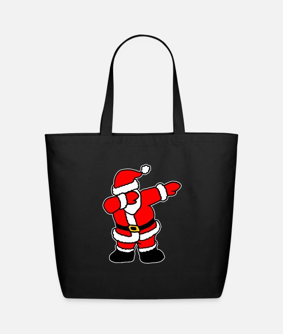 Snowball Bags & Backpacks - Santa Claus - Eco-Friendly Tote Bag black