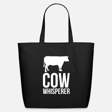 Bull Humor Cow Design Quote Funny Cow Whisperer - Eco-Friendly Tote Bag