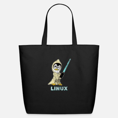 Hacker Linux Retro Linux Penguin for Linux Admin and Hacker - Eco-Friendly Tote Bag