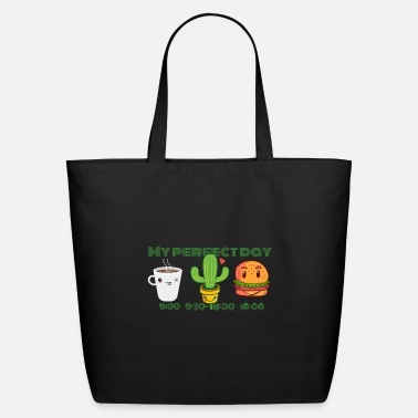 Burger My Perfect Day - Coffee Cactus Burger - Eco-Friendly Tote Bag