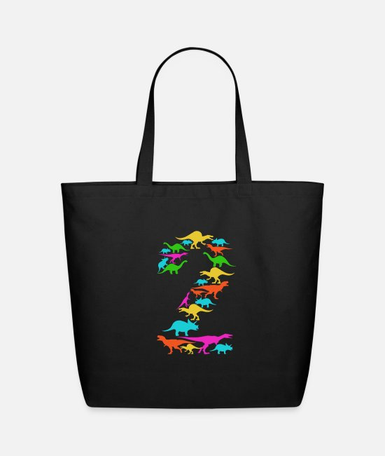 Birthday Child Bags & Backpacks - Children 2nd Birthday - Dino two Year - Eco-Friendly Tote Bag black