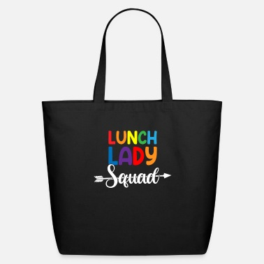Ladies Teacher Lunch Lady Squad,lunch lady - Eco-Friendly Tote Bag