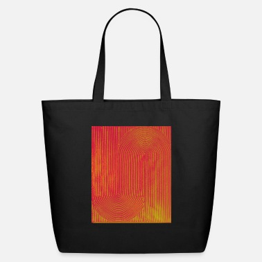 Original Art Geometric optical illusion effects - Eco-Friendly Tote Bag