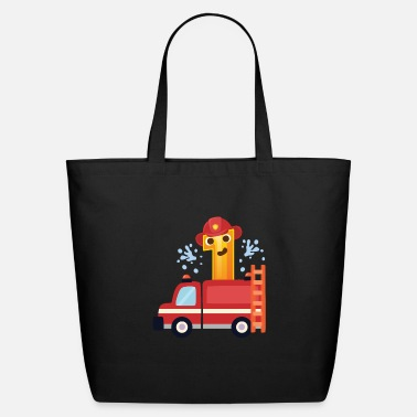 Firefighter Man First 1. birthday firefighter man boy gift - Eco-Friendly Tote Bag