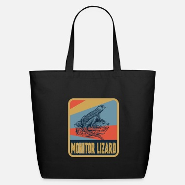 Monitoring Monitor Lizard - Eco-Friendly Tote Bag
