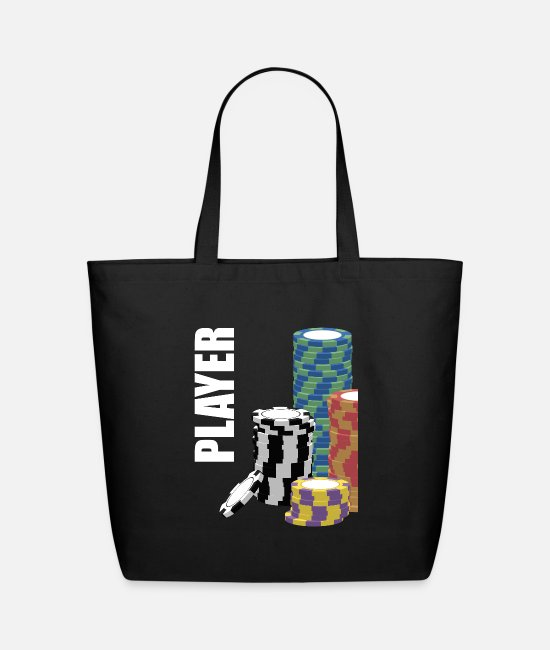 Heart Bags & Backpacks - Player Poker Poker Chips Design - Eco-Friendly Tote Bag black