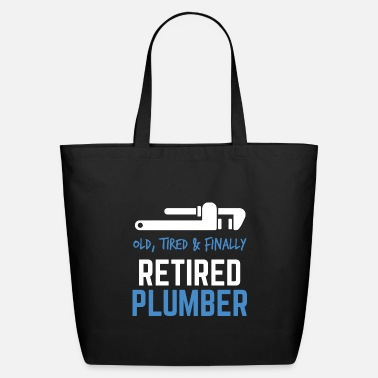 Legendary Finally Retired Plumber Retirement Gift Idea - Eco-Friendly Tote Bag