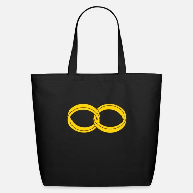 Symbol wedding rings - like a symbol of infinity - Eco-Friendly Tote Bag
