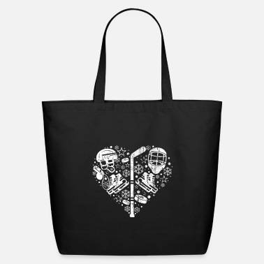 Winter Sports Ice Hockey Player Winter Sports Skater Gift - Eco-Friendly Tote Bag