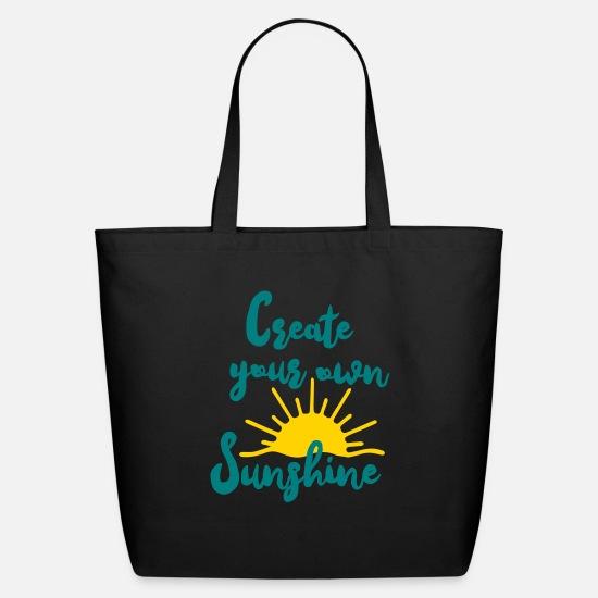 Create Your Own Sunshine Eco Friendly Cotton Tote Black