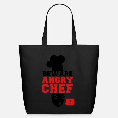 Chef BEWARE angry CHEF! with a speech bubble ! - Eco-Friendly Tote Bag