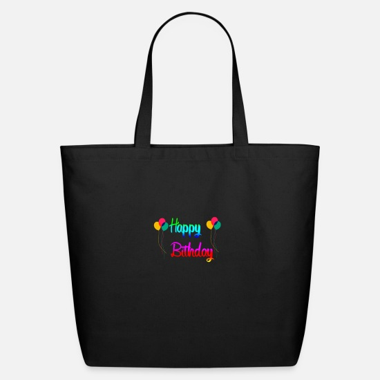 Happy Holidays Bags & Backpacks - Happy birthday gift - Eco-Friendly Tote Bag black