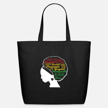 Black Natural Girl Black Beautiful Is In My DNA, Natural Afro Pride - Eco-Friendly Tote Bag