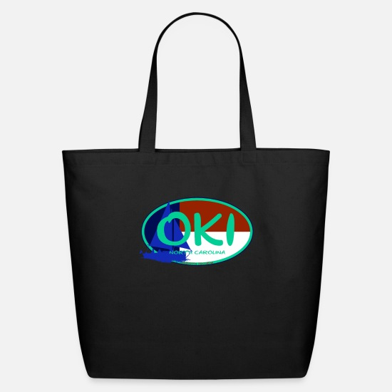 Vacation Bags & Backpacks - OKI Oak Island North Carolina Flag Ocean Beaches - Eco-Friendly Tote Bag black