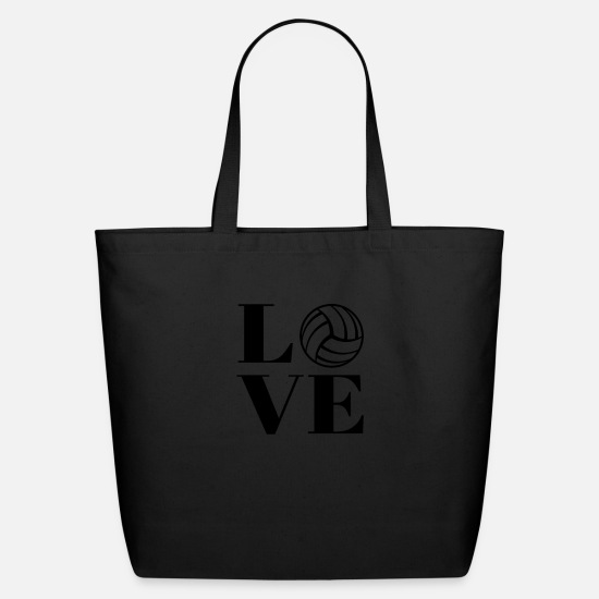 Love Bags & Backpacks - Love Beach Volleyball - Eco-Friendly Tote Bag black