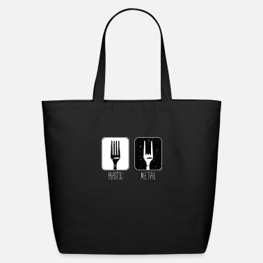 Metal Fork Plastic Metal Fork - Eco-Friendly Tote Bag